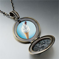 Necklace & Pendants - vanilla ice cream cone photo locket pendant necklace Image.