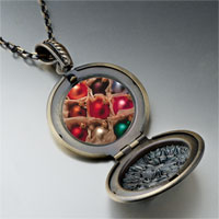 Necklace & Pendants - christmas ornament balls photo locket pendant necklace Image.