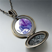 Necklace & Pendants - purple christmas ornament ribbon photo locket pendant necklace Image.