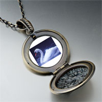 Necklace & Pendants - swimming swan photo locket pendant necklace Image.