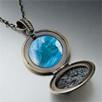 Necklace & Pendants - cresting blue wave pendant necklace Image.