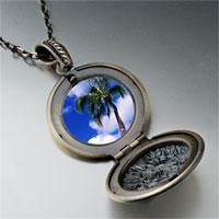 Necklace & Pendants - tropical beach palm tree pendant necklace Image.