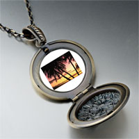 Necklace & Pendants - palms tropical sunset pendant necklace Image.