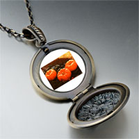 Necklace & Pendants - jack o lantern halloween pumpkin toys round and flower pendant Image.