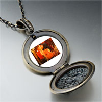 Necklace & Pendants - jack o lantern halloween pumpkin and candle thanksgiving decorationsround and flower pendant Image.