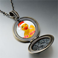 Necklace & Pendants - jingle wingle rubber ducky santa pendant necklace Image.
