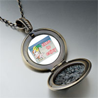 Necklace & Pendants - santa at beach pendant necklace Image.