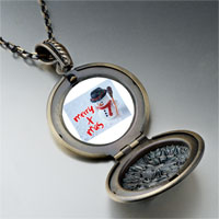 Necklace & Pendants - necklace merry xmas christmas gifts snowman pendant necklace Image.