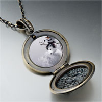 Necklace & Pendants - necklace happy christmas gifts snowman black pendant necklace Image.