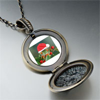 Necklace & Pendants - holly hopping santa frog pendant necklace Image.