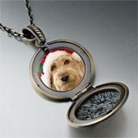 Necklace & Pendants - golden retriever santa pendant necklace Image.