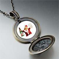 Necklace & Pendants - champagne santa pendant necklace Image.