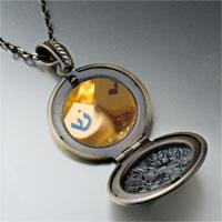 Necklace & Pendants - hanukkah holiday dreidel pendant necklace Image.