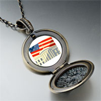 Necklace & Pendants - american flag whitehouse pendant necklace Image.