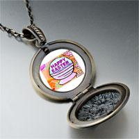 Necklace & Pendants - happy easter basket pendant necklace Image.