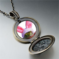 Necklace & Pendants - easter bunny frog pendant necklace Image.