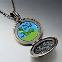 Necklace & Pendants - feeling lucky caterpiller pendant necklace Image.