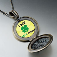 Necklace & Pendants - i see green people pendant necklace Image.
