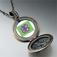 Necklace & Pendants - luck on a purple clover pendant necklace Image.