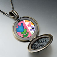 Necklace & Pendants - flowers butterfly easter eggs pendant necklace Image.