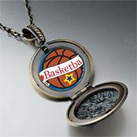 Necklace & Pendants - heart basketball pendant necklace Image.