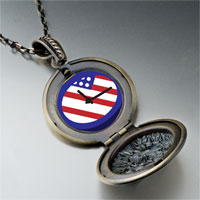 Necklace & Pendants - american flag clock pendant necklace Image.