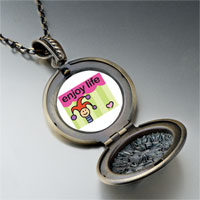 Necklace & Pendants - enjoy life joker pendant necklace Image.