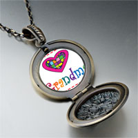 Necklace & Pendants - colorful grandma heart pendant necklace Image.