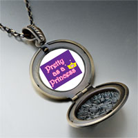 Necklace & Pendants - pretty princess crown pendant necklace Image.