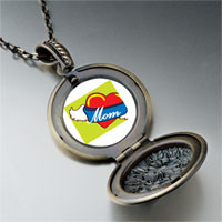 Necklace & Pendants - heart mom wings pendant necklace Image.