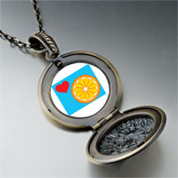Necklace & Pendants - heart orange slice pendant necklace Image.