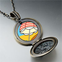 Necklace & Pendants - beach umbrella photo pendant necklace Image.