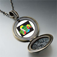 Necklace & Pendants - multicolored snake around fish pendant necklace Image.