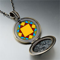 Necklace & Pendants - quiltwork patch pendant necklace Image.