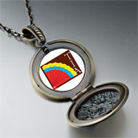 Necklace & Pendants - colorful kokopelli heart pendant necklace Image.