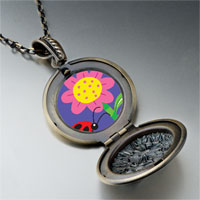 Necklace & Pendants - ladybug flower pendant necklace Image.