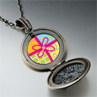 Necklace & Pendants - multicolored gift wrapped present pendant necklace Image.