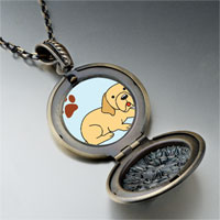 Necklace & Pendants - yellow labrador dog pendant necklace Image.