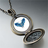 Necklace & Pendants - shades blue butterfly pendant necklace Image.