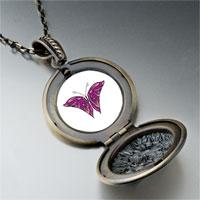 Necklace & Pendants - purple pink butterfly pendant necklace Image.