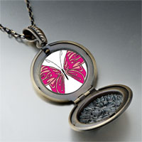 Necklace & Pendants - shades pink butterfly pendant necklace Image.