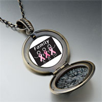 Necklace & Pendants - family pink ribbon pendant necklace Image.