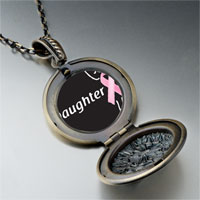 Necklace & Pendants - daughter support pink ribbon pendant necklace Image.