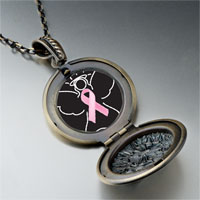 Necklace & Pendants - angel hope pink ribbon pendant necklace Image.