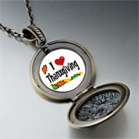 Necklace & Pendants - i love thanksgiving pendant necklace Image.