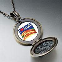 Necklace & Pendants - i heart sushi photo pendant necklace Image.