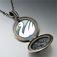 Necklace & Pendants - swans swimming photo storybook pendant necklace Image.