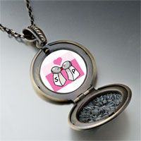 Necklace & Pendants - salt pepper love pendant necklace Image.