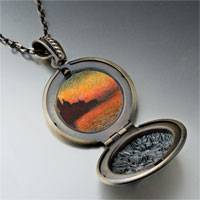 Necklace & Pendants - sunset in venice painting pendant necklace Image.