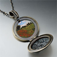 Necklace & Pendants - path in wheat pourville painting pendant necklace Image.